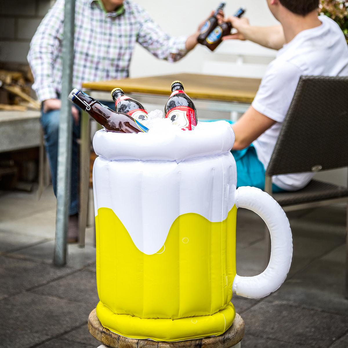Aufblasbarer Bierkühler - Maßkrug