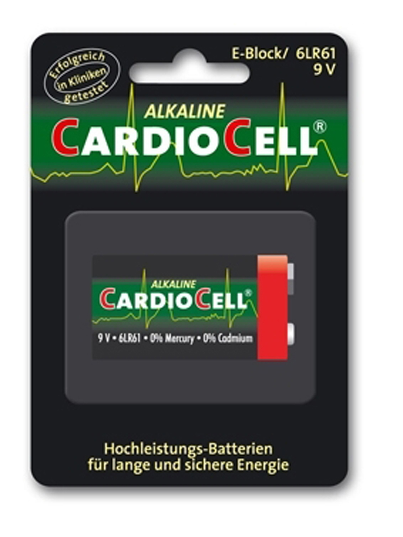 Cardiocell Batterie 9 V Block -6LR61 1er Pack