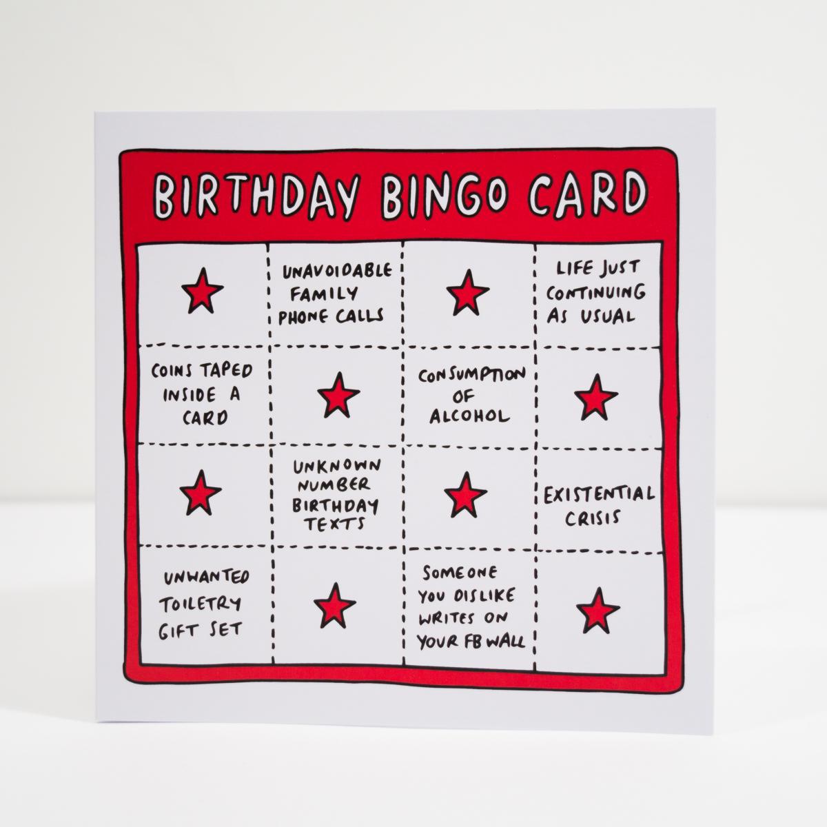 Geburtstagskarte Birthday Bingo