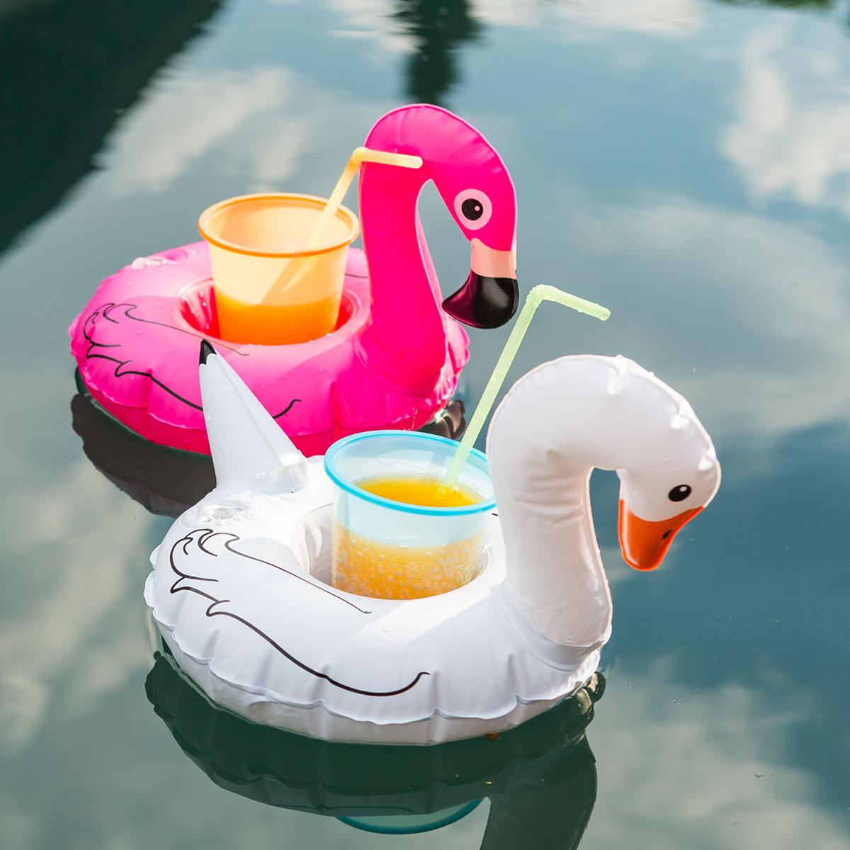 Schwimmende Getränkehalter Vögel 3er Set