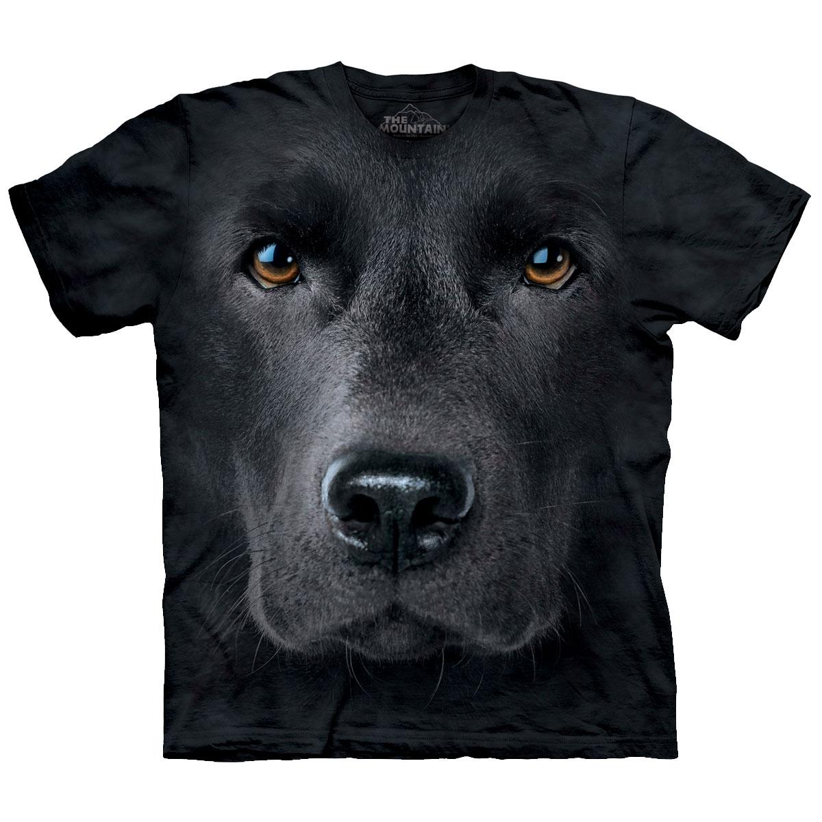 Big Face Labrador T Shirt Small