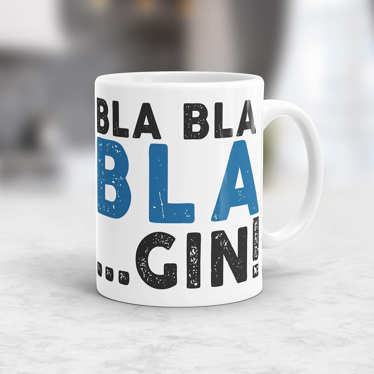 Personalisierbare Bla Bla Tasse Design