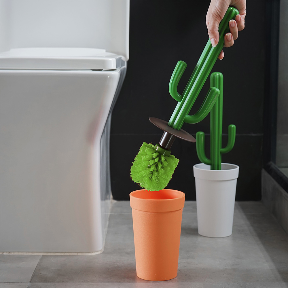 Kaktus Toilettenbürste Weißer Topf