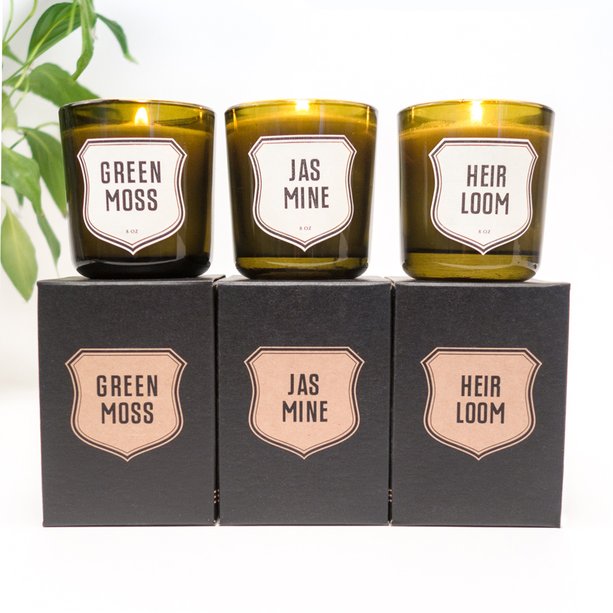 Edle Duftkerzen aus Recycling Glas Jasmin