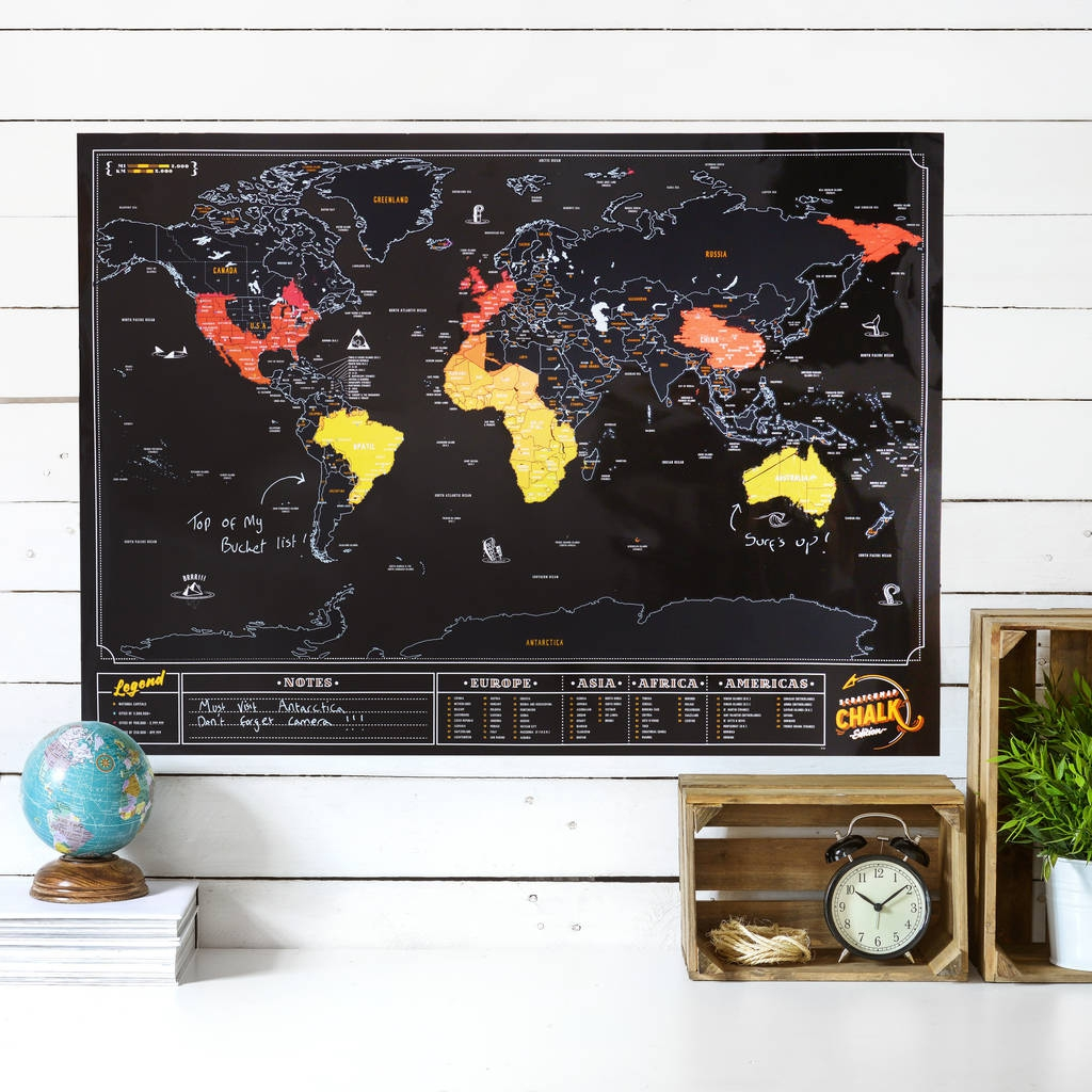 Rubbel Weltkarte Tafel