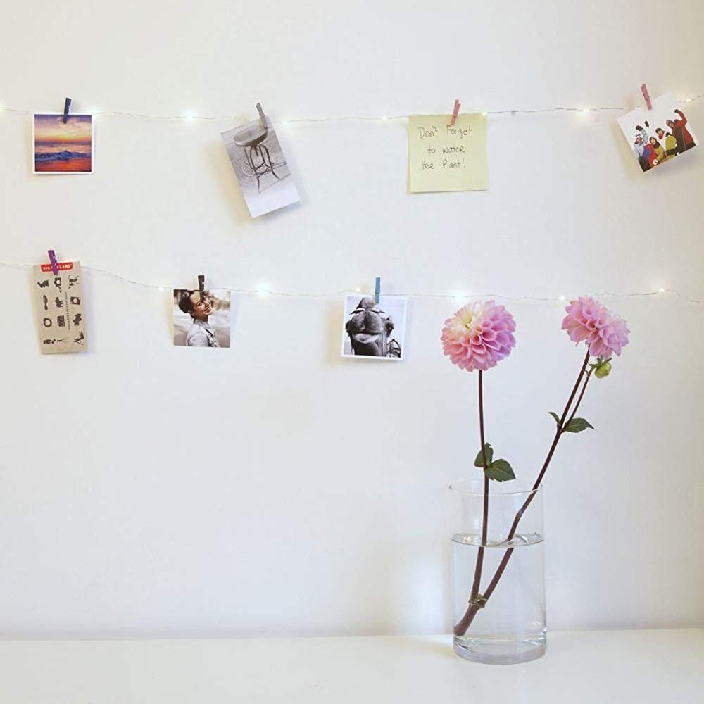 Mini Wäscheklammern LED Kette