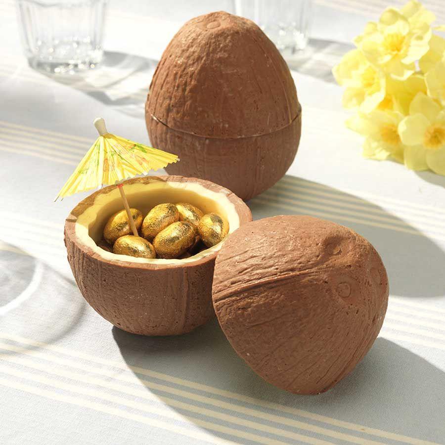 Schoko-Kokosnuss mit Schoko-Mini-Eiern