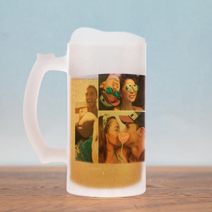 Bierkrug mit 5 Bildern