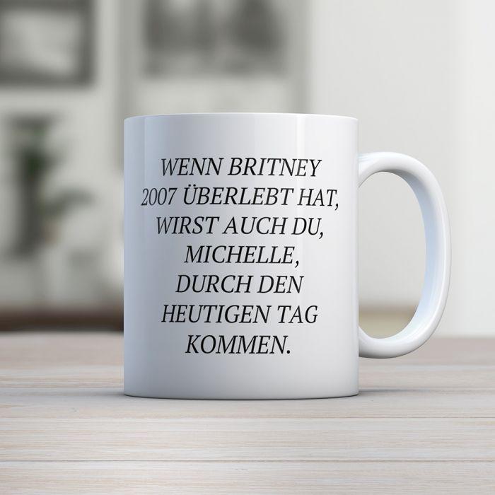 Personalisierbare Britney Tasse mit Namen