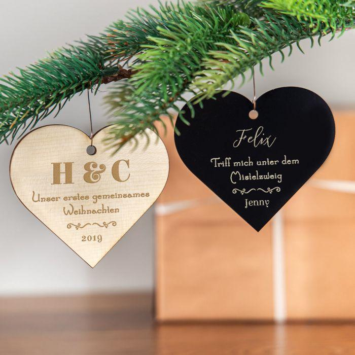 Weihnachtsschmuck mit Herz