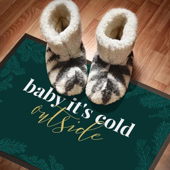 Die Fußmatte für Weihnachten