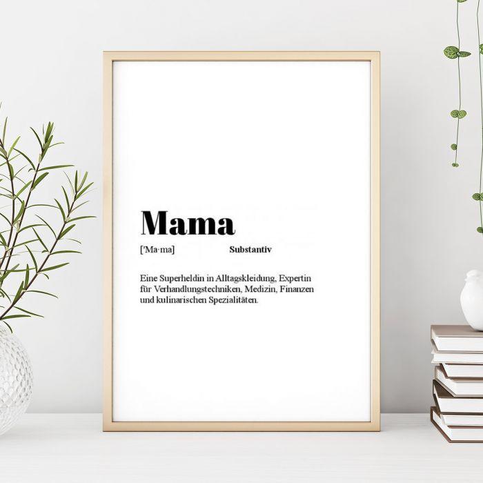Personalisierbares Poster Wörterbuch-Eintrag
