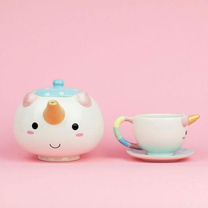 Einhorn Teekanne