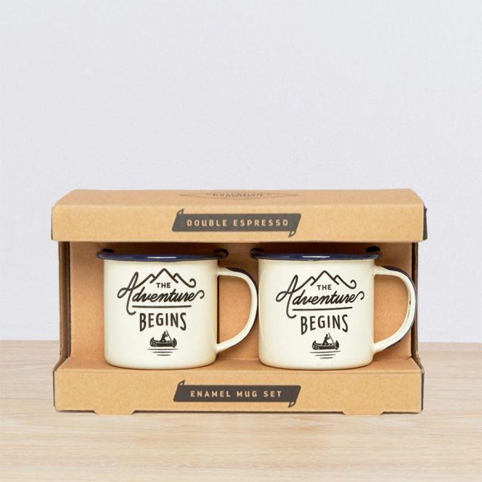 Emaille Outdoor-Espressotassen 2er-Set