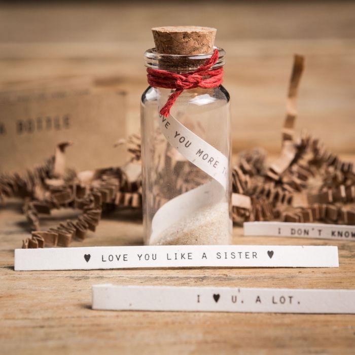 Flaschenpost Set - Herz