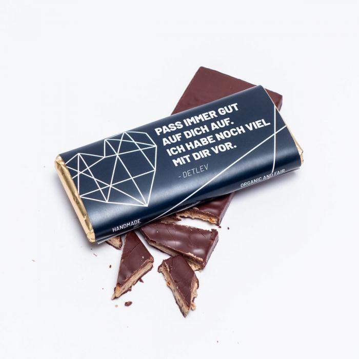 Personalisierbare Schokolade mit Text
