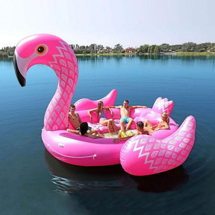 Aufblasbare Flamingo Insel für 6 Personen