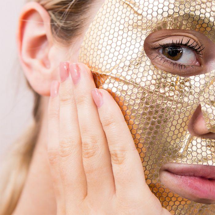 Gold-Gesichtsmaske