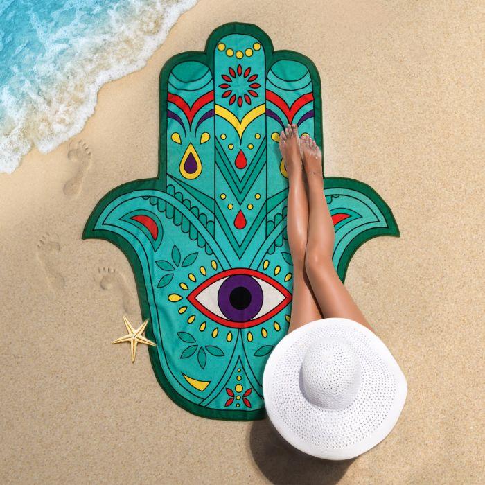 Hand der Fatima Strandtuch