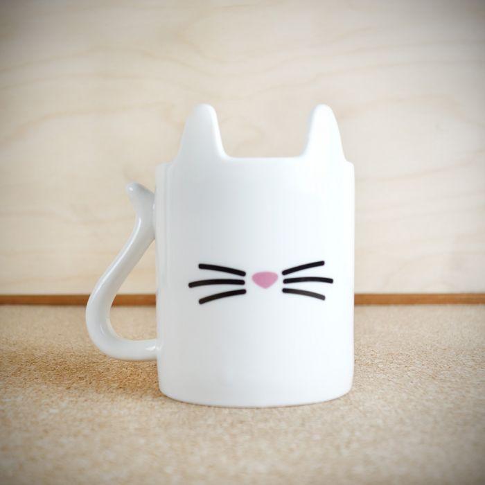 Tierischer Kaffeebecher Katze