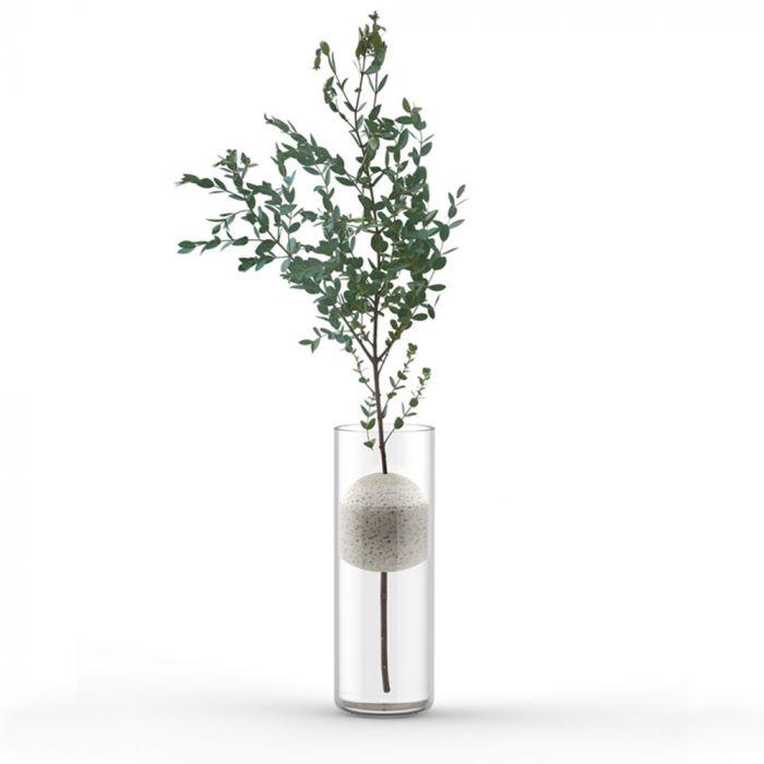 Lava Design-Vase mit Bimsstein