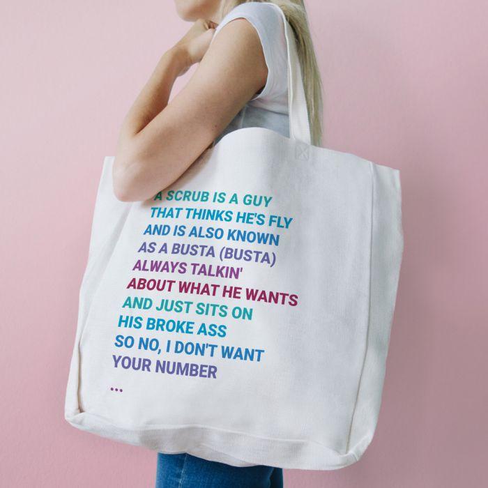 Tasche mit 11 Zeilen