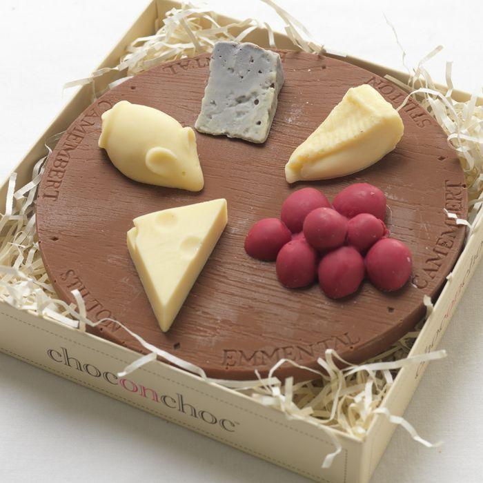 Käseplatte aus Schokolade