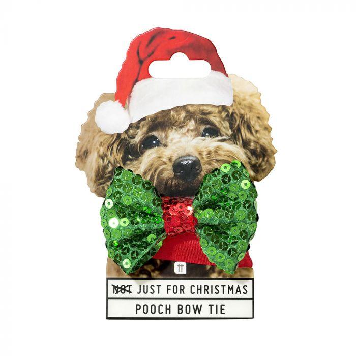 Weihnachts-Halsband mit Fliege für Hunde
