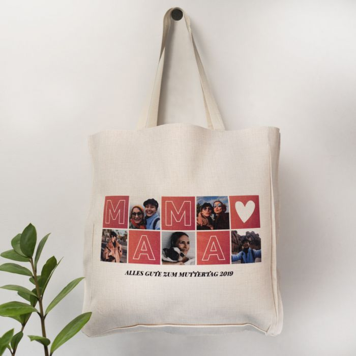 Personalisierbare Tasche Mama mit Bildern