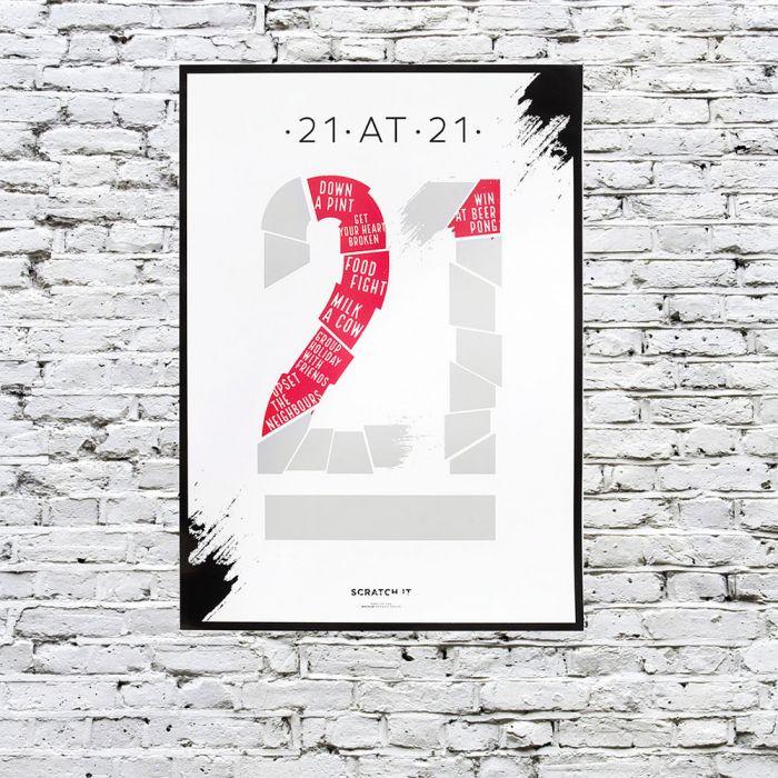 Rubbel-Poster To Do-Liste für bestimmtes Alter