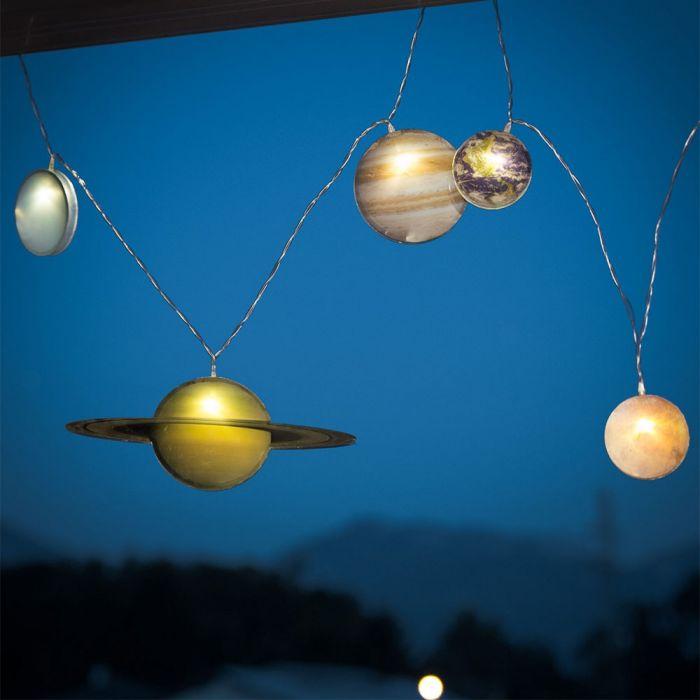 Sonnensystem Lichterkette