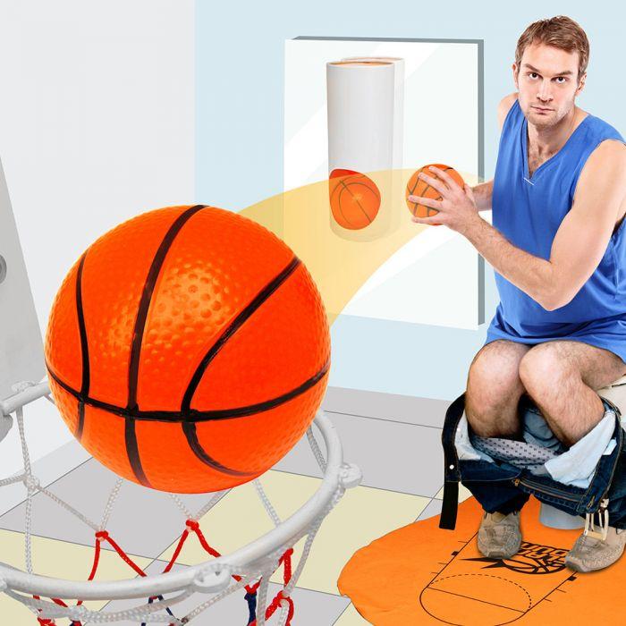 Basketball-Set für die Toilette