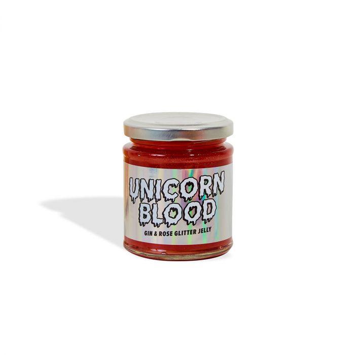Einhorn-Blut Gelee mit Gin