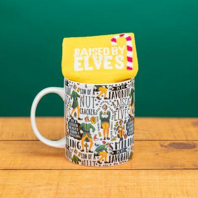 Weihnachts-Elf Tasse und Socken