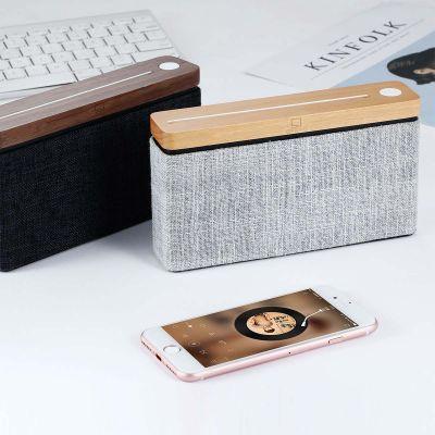 Square Bluetooth-Lautsprecher aus Holz