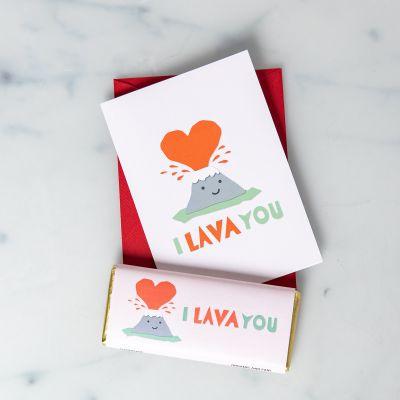 I Lava You Schokolade und Karte