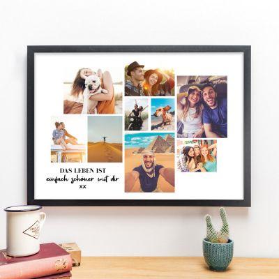 Poster mit Bild Collage und Text