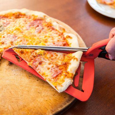 Pizza Schere mit Servierfläche