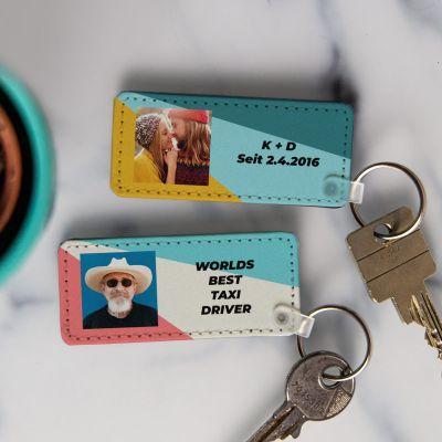 Schlüsselanhänger mit Bild und Text