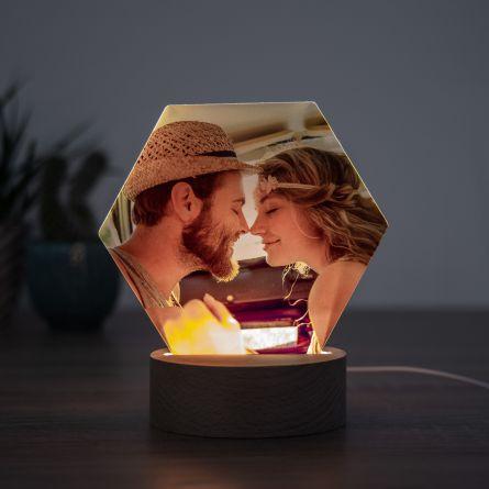 LED-Leuchte mit Foto
