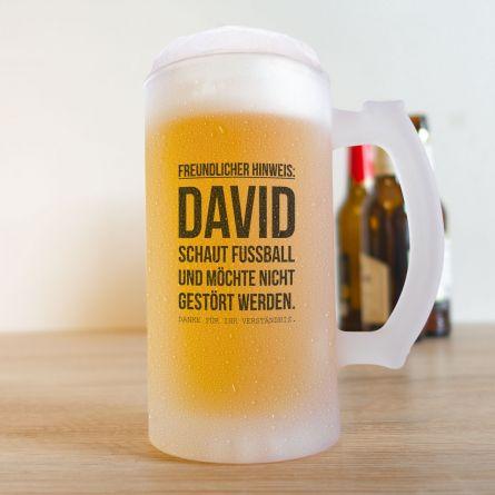 Bierkrug für Fußball-Fans