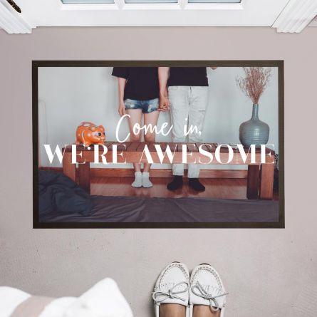 Personalisierbare Foto Fußmatte