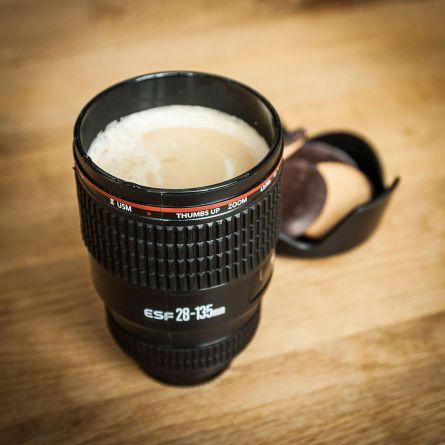 Trinkbecher Kameraobjektiv