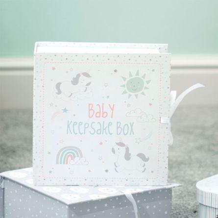 Einhorn Erinnerungsbox fürs Baby