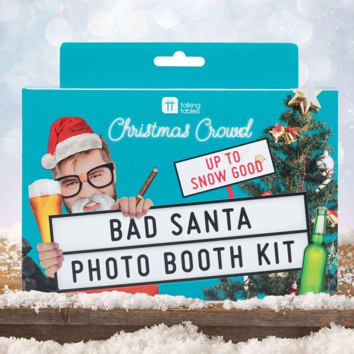 Bad Santa Foto-Kit für Weihnachten
