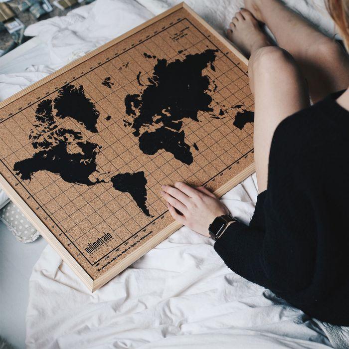 Kork-Pinnwand Weltkarte