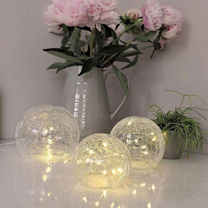 LED-Leuchtenset aus Bruchglas