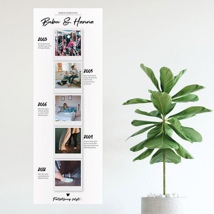 Personalisierbares Foto-Poster Unsere Geschichte