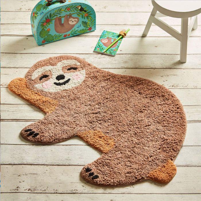 Glückliches Faultier Teppich