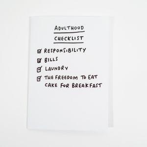 Grußkarte Adulthood Checklist